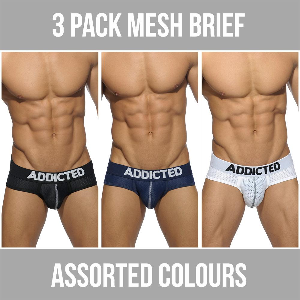 001de38ce8b Addicted 3 Pack Mesh Brief Push Up AD475P Assorted.  83.95. Addicted  Anaconda Boxer AD554 Turquoise Mens Underwear