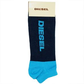 Diesel Ankle Shorty Socks 00CHWL 00LNE 81E Navy Teal