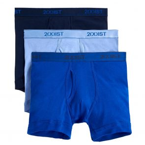 2xist Essentials Boxer Brief 3-Pack 20304 Navy/Cobalt/Porcelain