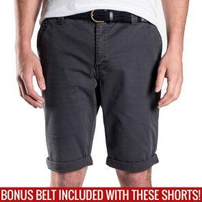 Mossimo David Chino Shorts with Free Belt 0M5199 Phantom