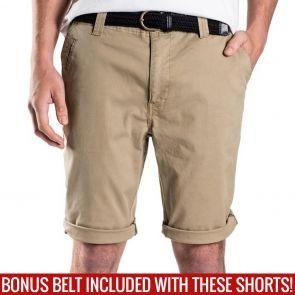 Mossimo David Chino Shorts with Free Belt 0M5199 Safari
