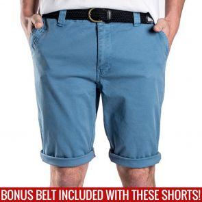 Mossimo David Chino Shorts with Free Belt 0M5199 Seaport