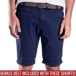 Mossimo David Chino Shorts with Free Belt 0M5199 Submarine