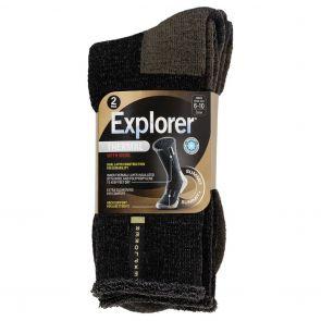 Explorer Mens Thermal Socks 2-Pack SZSG2W Black