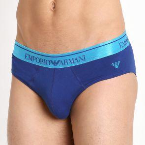 Emporio Armani Classic Shiny Logo Brief 110814 6P512 10233 Electric Blue