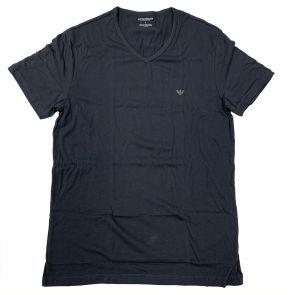 Emporio Armani Cotton V-Neck T-Shirt 111028 7A722 Dark Grey
