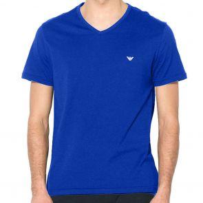 Emporio Armani Cotton V-Neck T-Shirt 111028 7A722 Electric Blue
