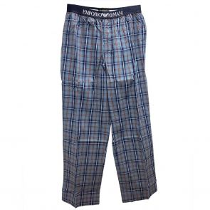Emporio Armani Woven Sleep Pants 111043 3P576 13542 Blue Tartan
