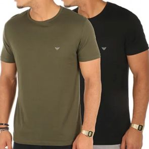 Emporio Armani T-Shirt 2-Pack 111267 7A722 Khaki and Black