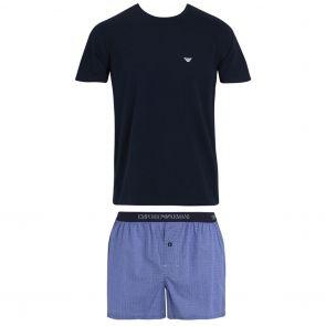 Emporio Armani Woven Pajamas 111339 8P576 Blue
