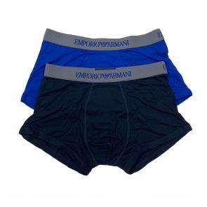Emporio Armani Boxer Brief 2-Pack 111613 7A722 Marine and Blue