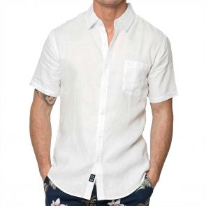 Coast Short Sleeve Linen Shirt 18CCC401 White