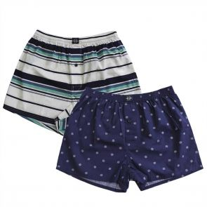 Coast Woven Nautical 2 Pack Boxer 18CCU500 Stripe/Navy