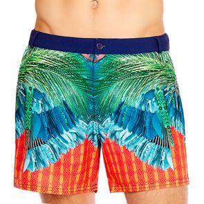 Aqua Blu Mens Instinct Resort Swim Shorts AM8022IN Multi