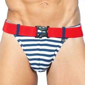 ES Collection Belt Pique Swim Bikini 2025 Navy Sailor