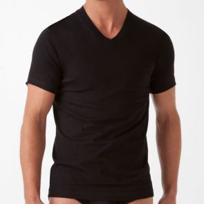 2xist Essentials V-Neck T-Shirt 3 Pack 20331 Black
