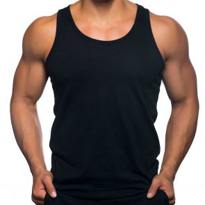 Andrew Christian Happy Tagless Tank Top 2561 Black