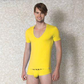 Doreanse Deep V Neck Tee 2820 Yellow