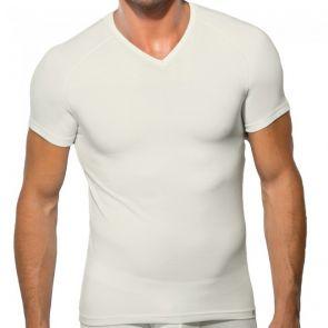 Doreanse Viloft V-Neck Thermal T-Shirt 2885 Ecru