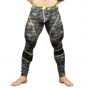 Andrew Christian Vibe Frequency Legging W / Mesh 91162 Black/Grey Print