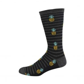 Bamboozld Mens Pineapple Non Tight Health Sock BBNTPINE Charcoal