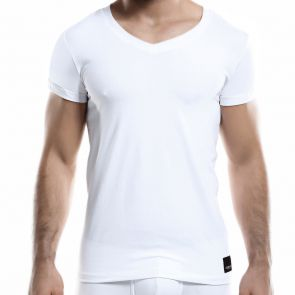 C4M Elemental V Neck Tee C4M07 White