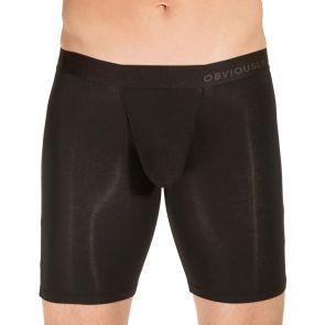 Obviously PrimeMan Boxer Brief 9 Inch Leg A01 Black