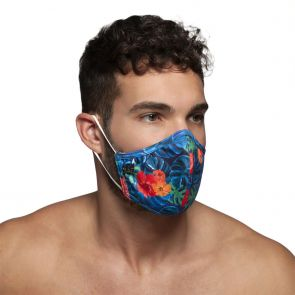ES Collection Flowery Mask AC099 Navy