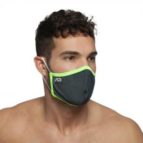 Addicted Spider Face Mask AC106 Charcoal