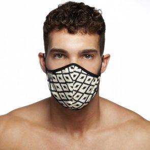 Addicted Rhombus Face Mask AC116 Black and White