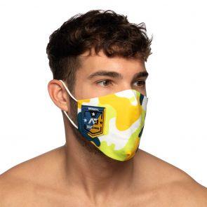 Addicted Camo Shield AD Face Mask AC127 Yellow