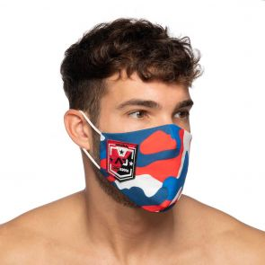 Addicted Camo Shield AD Face Mask AC127 Red