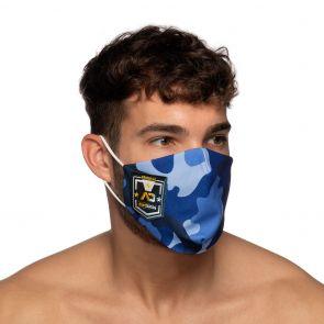 Addicted Camo Shield AD Face Mask AC127 Navy