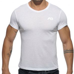 Addicted Basic V Neck T-Shirt AD423 White