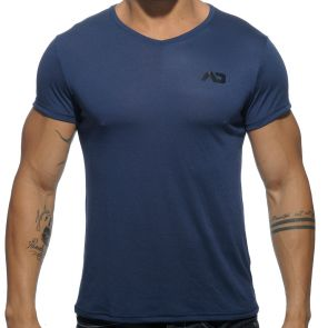 Addicted Basic V Neck T-Shirt AD423 Navy