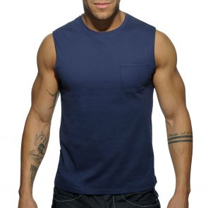 Addicted Basic Tank Top AD531 Navy