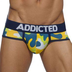 Addicted Basic Camo Brief AD579 Lemon Green