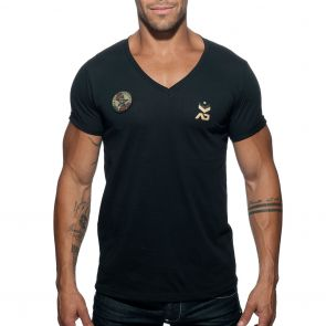 Addicted Military T-Shirt AD610 Black