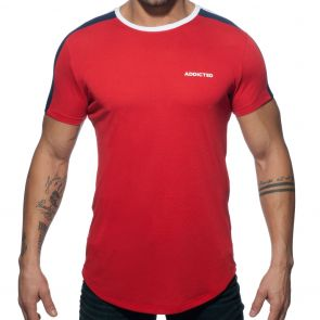 Addicted Ranglan Addicted T-Shirt AD778 Red