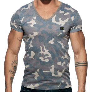 Addicted Washed Camo T-Shirt AD800 Camouflage