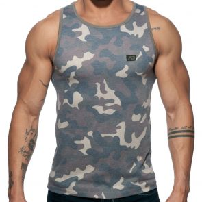 Addicted Washed Camo Tank Top AD801 Camouflage