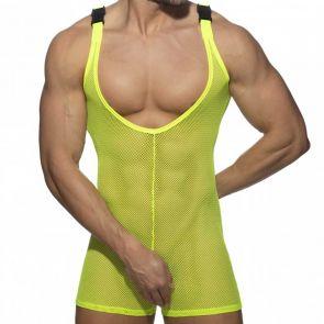 Addicted Mesh Wrestling Suit AD945 Neon Yellow