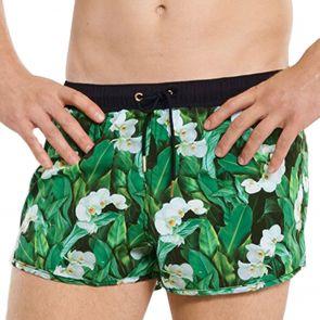 Aqua Blu Botanica Running Swim Shorts AM9001BO Green