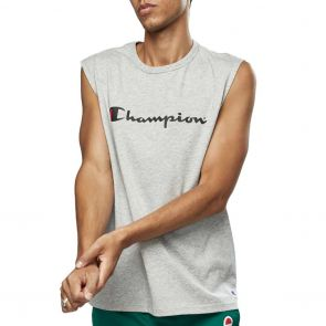 Champion Script Muscle Tank AXQMN Grey