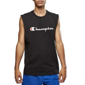 Champion Script Muscle Tank AXQMN Black