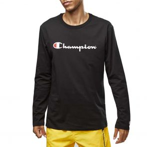Champion Script Long Sleeve Tee AXQNN Black