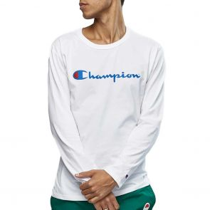 Champion Script Long Sleeve Tee AXQNN White
