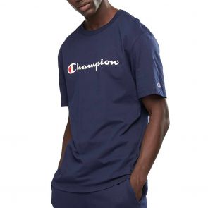Champion Script Short Sleeve Tee AXQPN Navy