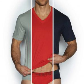 C-IN2 Core V-Neck T-Shirt 3-Pack 1310 Navy/Red/Grey