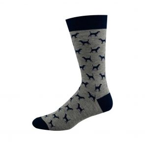 Bamboozld Mens Ditsy Dog BBS15DOG Grey/Navy